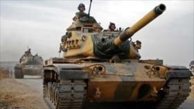 Tropas turcas con tanques estadounidenses avanzan en Siria