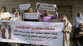 Gazatíes piden la liberación de palestinos en cárceles saudíes