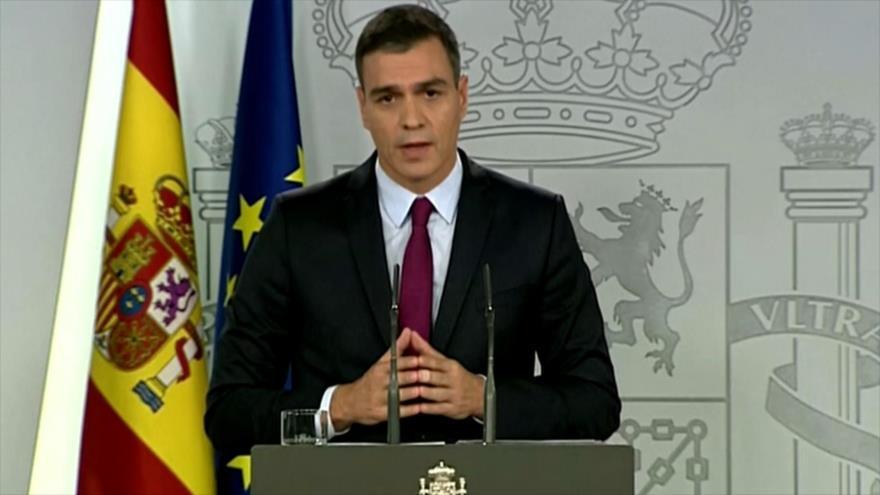 Sánchez exige a Quim Torra que condene la violencia en Cataluña