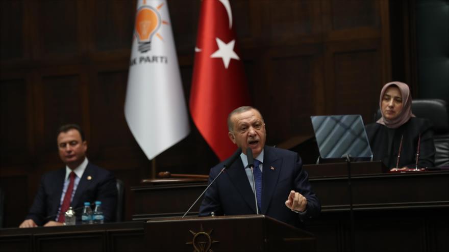 El presidente de Turquía, Recep Tayyip Erdogan, 16 de octubre de 2019. (Fuente: AFP)