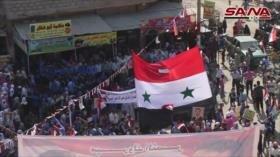 Deir Ezzor celebra logros del Ejército sirio ante invasión turca