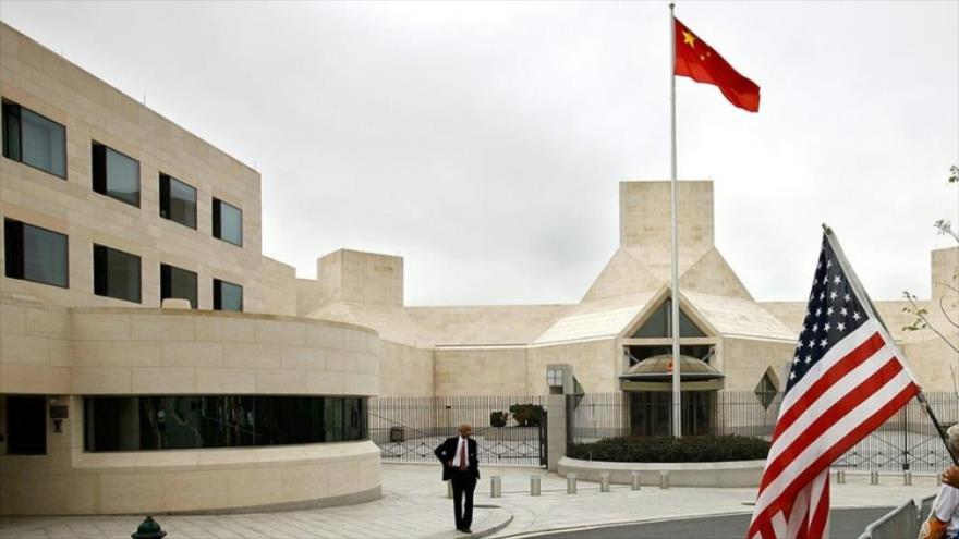 El edificio de la embajada de China en Washington, la capital de Estados Unidos.