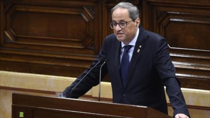 El presidente catalán pide un nuevo referéndum de independencia