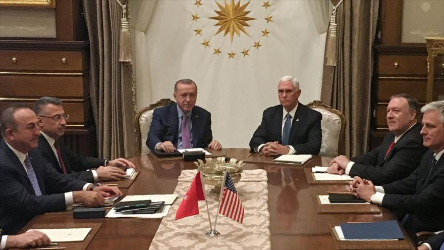 Turquía suspende agresión a Siria tras aceptar tregua de 120 horas