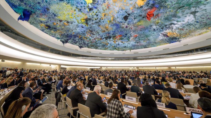 Una sesión del Consejo de Derechos Humanos de la ONU (CDHNU) en Suiza, 9 de septiembre de 2019. (Foto: AFP)