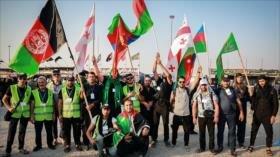 Peregrinos extranjeros llegan a Irak para conmemorar Arbaín