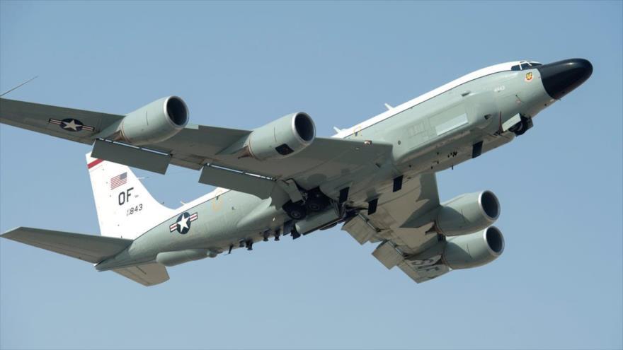 Un avión de inteligencia estratégica Boeing RC-135 de la Fuerza Aérea de Estados Unidos.