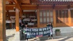 Vídeo: Estudiantes asedian la embajada de EEUU en Corea del Sur