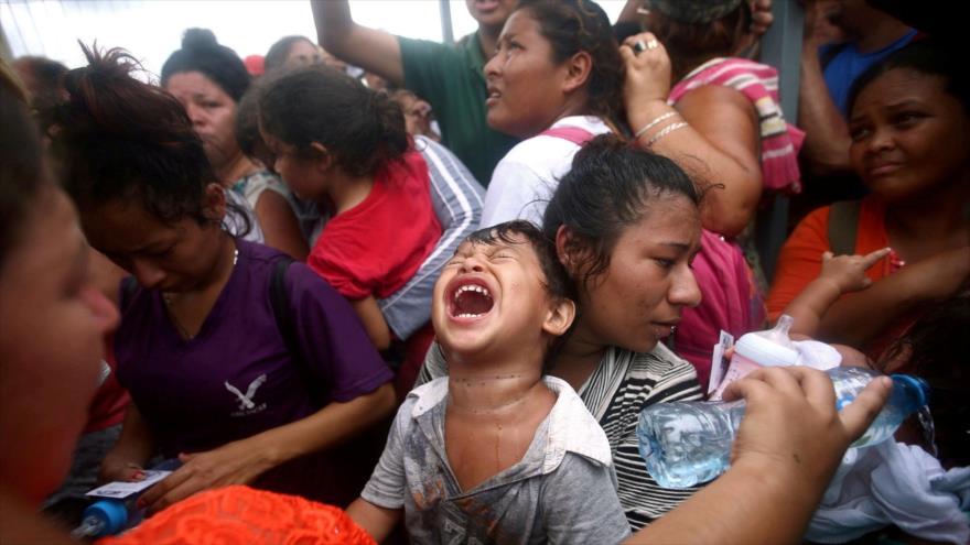 Los migrantes atrapados en la frontera norte de México.
