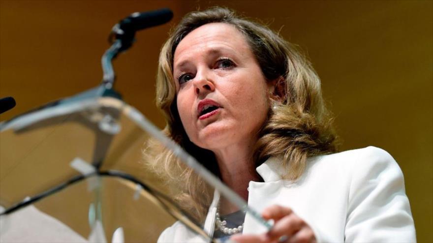 La ministra de Economía del Gobierno español, Nadia Calviño, en Madrid, capital, 7 de junio de 2018. (Foto: AFP)