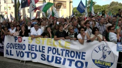 Derecha italiana denuncia políticas del Gobierno de coalición