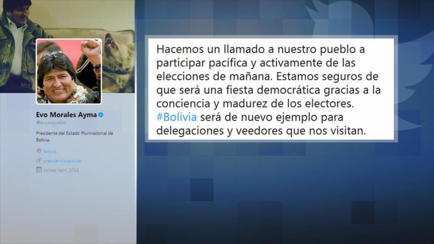 Morales llama a bolivianos a votar masivamente en presidenciales | HISPANTV