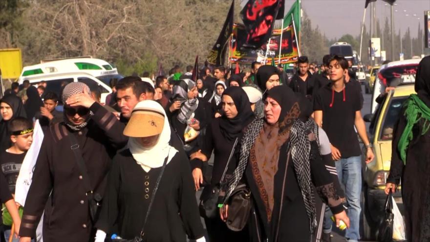 Miles de peregrinos conmemoran el Día de Arbaín en Siria