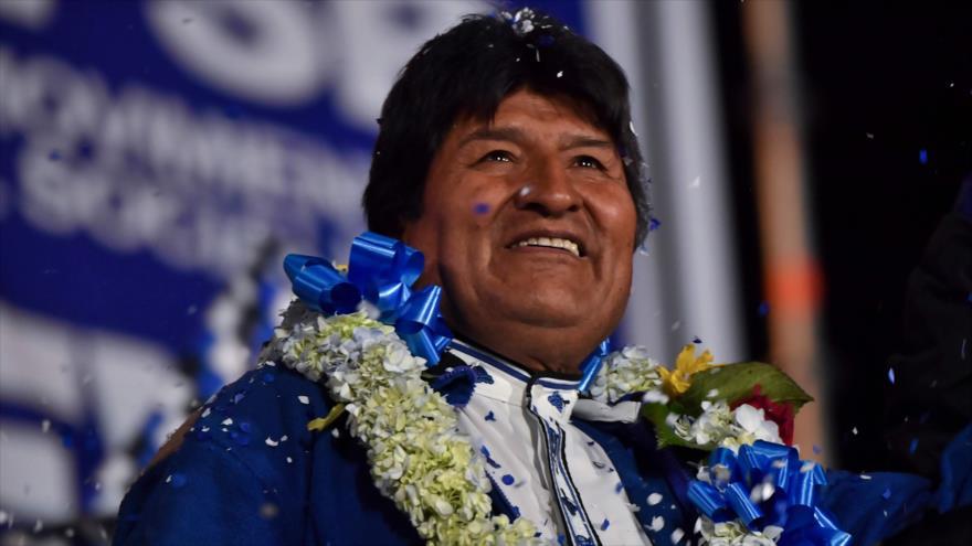 Evo Morales encabeza las elecciones generales en Bolivia