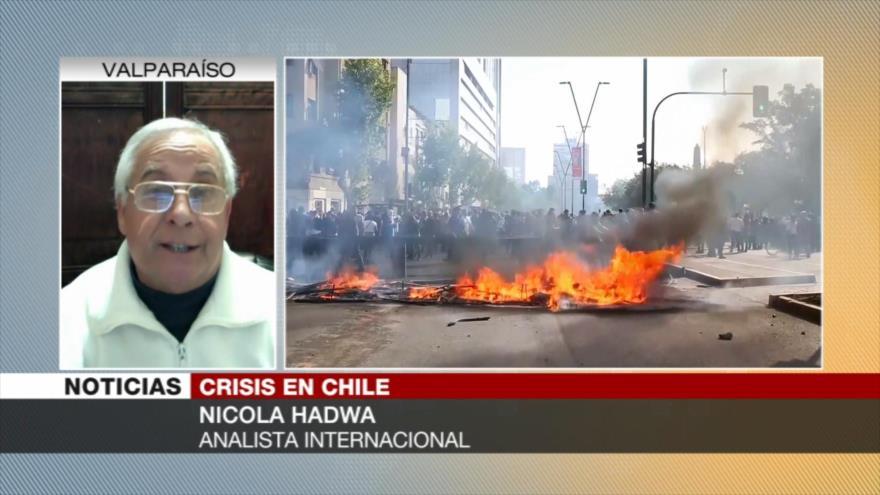 Hadwa: Chile está en estado de rebeldía contra neoliberalismo