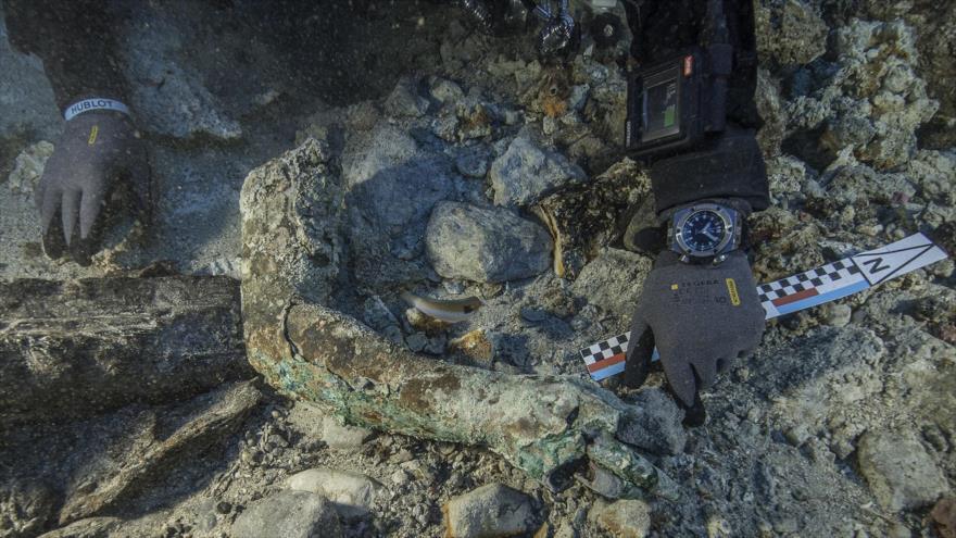 Uno de los hallazgos realizados en el naufragio de Anticitera.