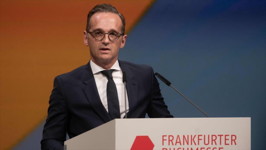 Heiko Maas, ministro de Exteriores de Alemania, habla en un acto público, Fráncfort, 15 de octubre de 2019. (Foto: AFP)