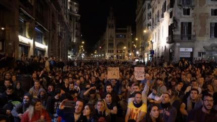 Cataluña vive 7.ª jornada de protestas contra juicio del procés