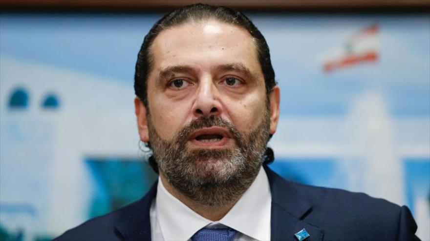 El primer ministro libanés, Saad Hariri, en una rueda de prensa en Beirut (capital), 21 de octubre de 2019. (Foto: Reuters)