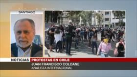 Coloane: Protestas en Chile son fruto de problemas a largo plazo
