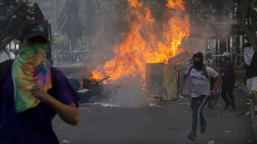 Crisis israelí. Medidas económicas en Líbano. Protesta en Chile