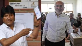 Morales lidera elecciones de Bolivia con 10 puntos más que Mesa