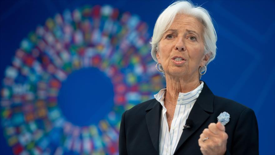 Christine Lagarde, exdirectora del Fondo Monetario Internacional (FMI), 10 de abril de 2019. (Foto: AFP)