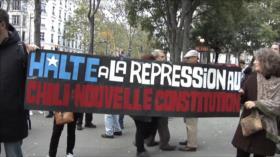 Se manifiestan en Francia contra política represiva de Chile
