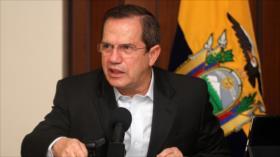 Canciller de Correa acusa a Moreno de colaborar con la CIA