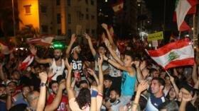 Vídeo: Libaneses queman bandera israelí y piden dimisión de Hariri