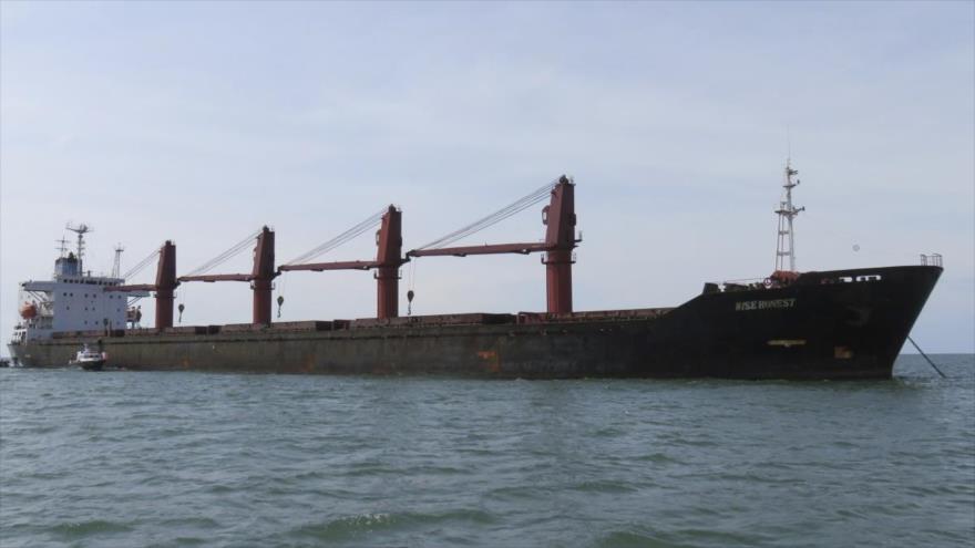 El buque de carga Wise Honest, de bandera norcoreana, confiscado por EE.UU., 9 de mayo de 2019. (Foto: AP)