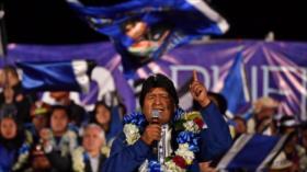 Irán felicita a Morales su victoria en elecciones de Bolivia
