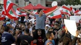 Los libaneses continúan sus protestas por la situación económica