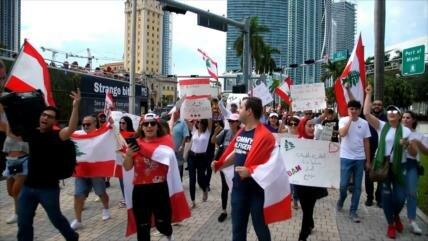 Libaneses de Miami se solidarizan con sus compatriotas