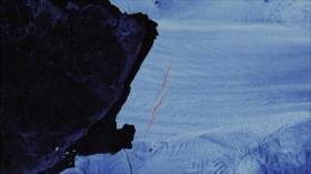 Dos grietas preocupantes surgen en un glaciar de la Antártida