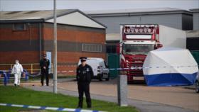 Encuentran 39 cadáveres a bordo de un camión en el Reino Unido