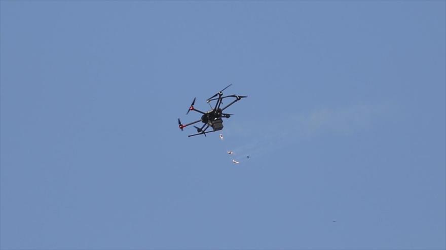 Vídeo: Dron israelí cae en El Líbano por disparos de un cazador