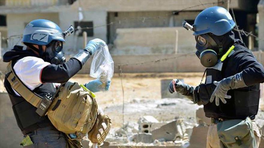 Los expertos de la Organización para la Prohibición de Armas Químicas (OPAQ) investigan supuesto ataque químico en la ciudad siria de Duma.
