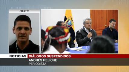 Reliche: Clima desafiante de Quito suspende diálogos con indígenas