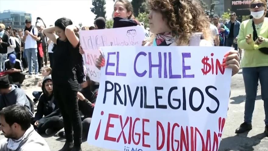 Se inicia la huelga general de dos días en Chile