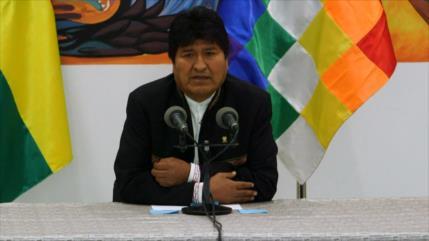 Evo Morales denuncia planes golpistas de la oposición en Bolivia