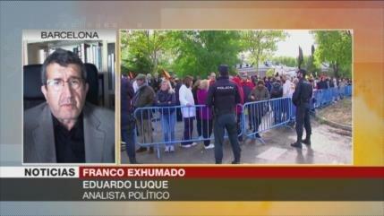 Luque: Grupos franquistas no protestan contra exhumación de Franco