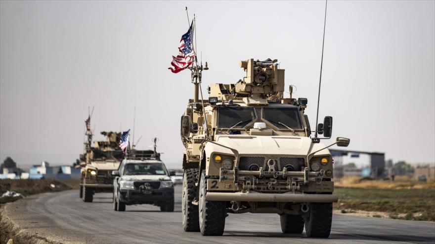 Fuerzas estadounidenses se retiraran de su base en el norte de Siria en la ciudad de Tal Tamr, 20 de octubre de 2019. (Fuente: AFP)