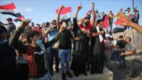 Autoridad religiosa iraquí pide a manifestantes evitar violencia