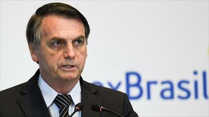 Bolsonaro apoya política represiva de Piñera en Chile