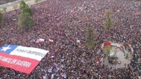 Más de un millón de chilenos protesta contra Gobierno de Piñera