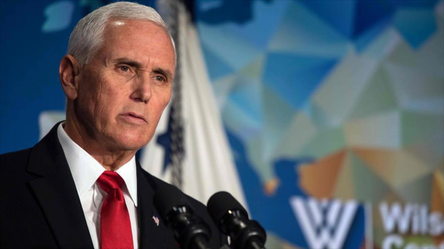 El vicepresidente de EE.UU., Mike Pence, ofrece un discurso sobre Hong Kong en la Casa Blanca, 24 de octubre de 2019. (Foto: AFP)