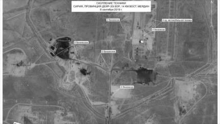 """Imágenes de satélite: Rusia revela """"bandidismo"""" de EEUU en Siria"""