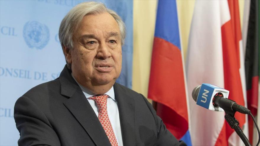 El secretario general de la ONU, António Guterres, da una rueda de prensa en Nueva York, 25 de octubre de 2019.