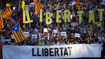 Independentismo catalán exige la liberación de sus líderes
